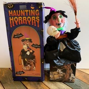 VTG Haunting Horrors Witch Doll Halloween Decor
